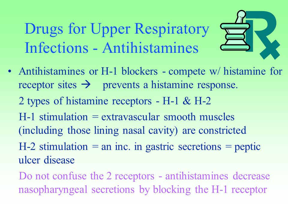 Drugs for Upper Respiratory Infections - Antihistamines
