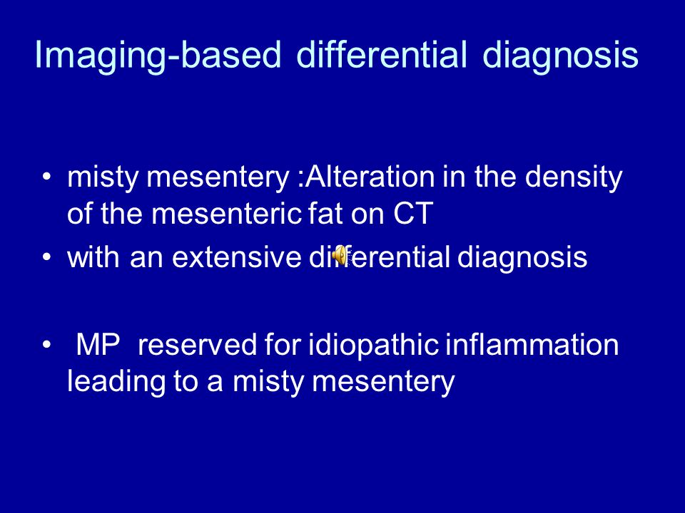 Imaging-based differential diagnosis