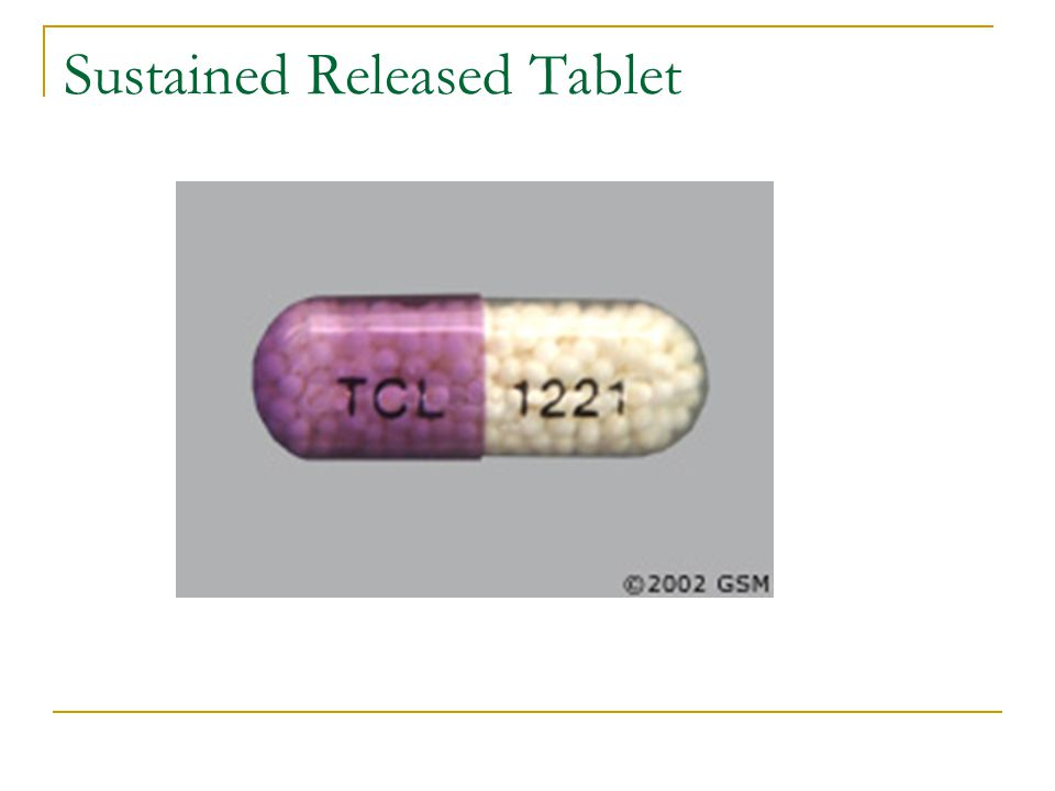 Sustained Released Tablet