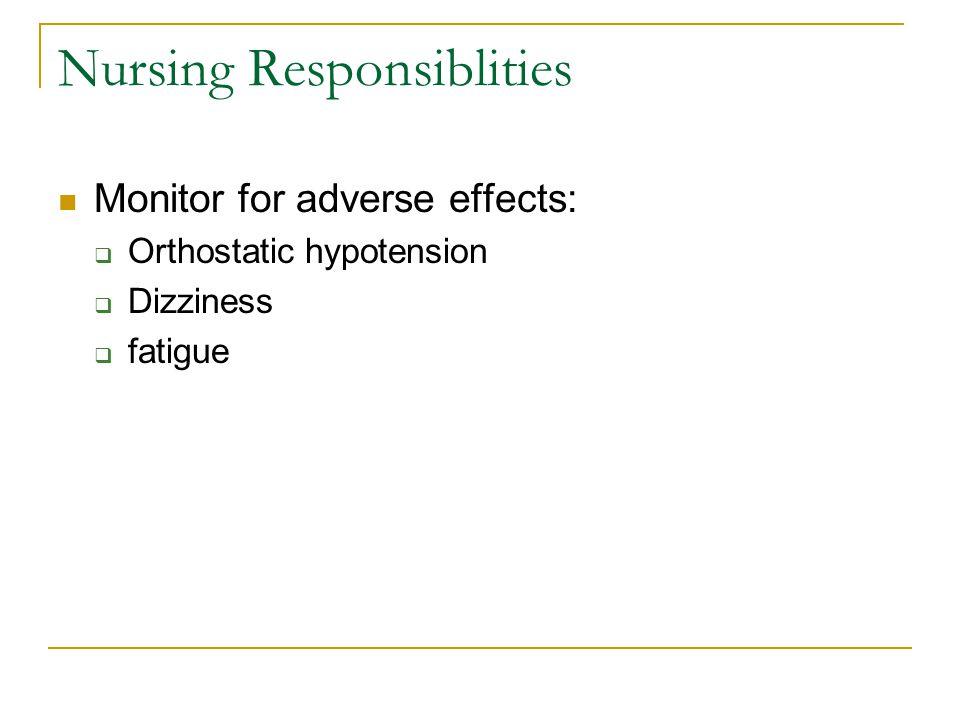 Nursing Responsiblities
