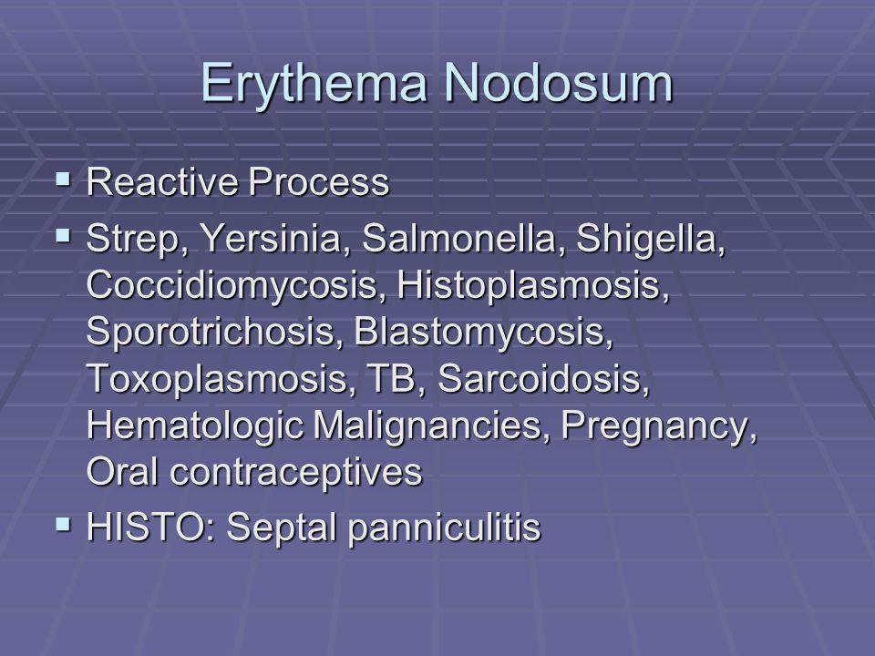 Erythema Nodosum Reactive Process