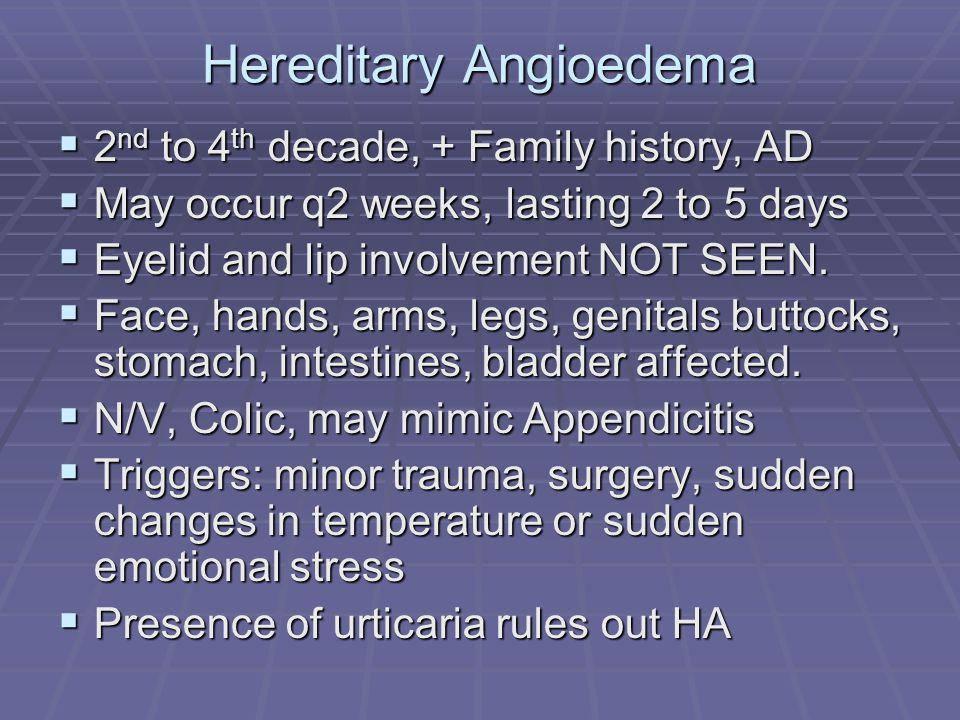 Hereditary Angioedema