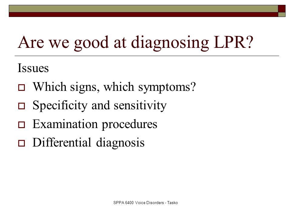 Are we good at diagnosing LPR