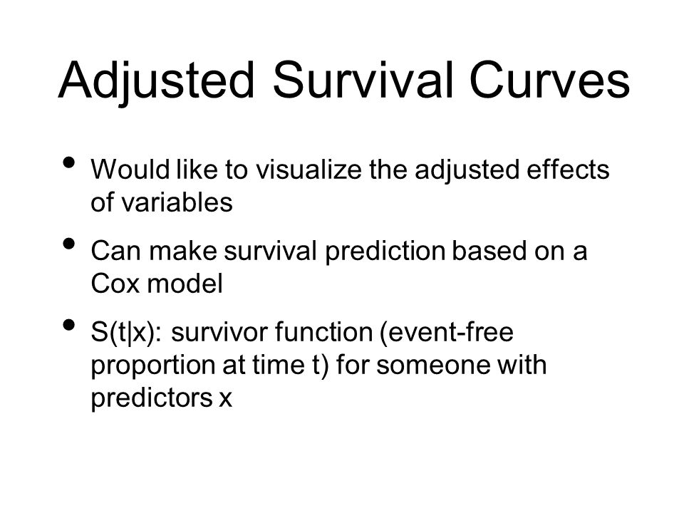 Adjusted Survival Curves