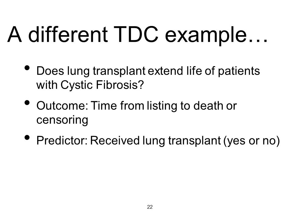 A different TDC example…