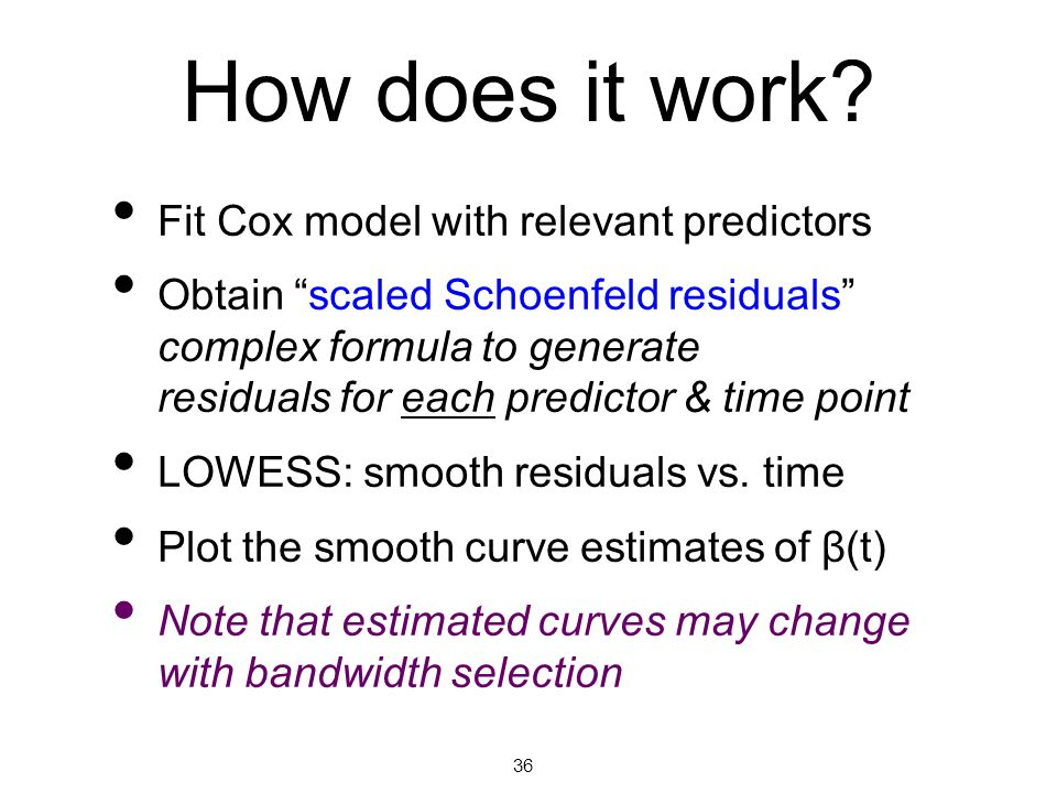 How does it work Fit Cox model with relevant predictors