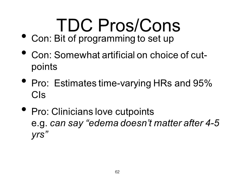 TDC Pros/Cons Con: Bit of programming to set up