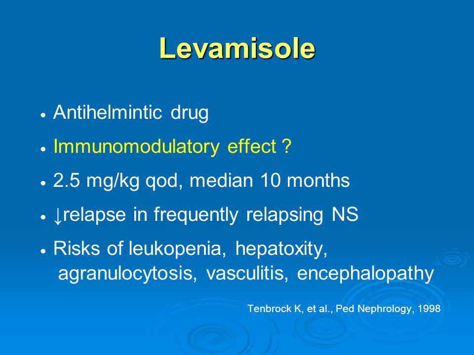 Levamisole ● Antihelmintic drug ● Immunomodulatory effect