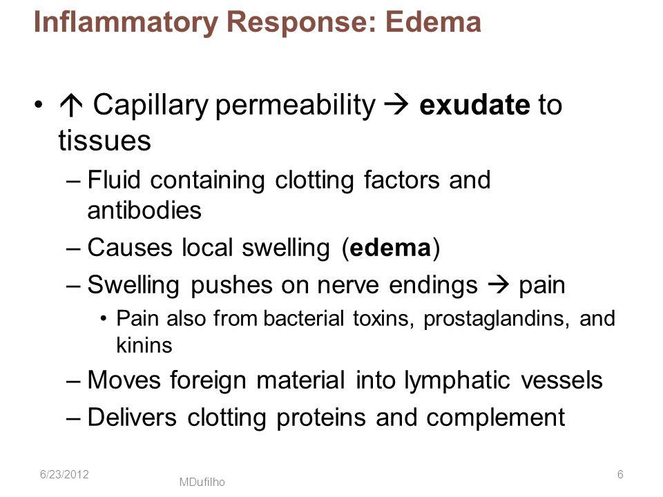 Inflammatory Response: Edema