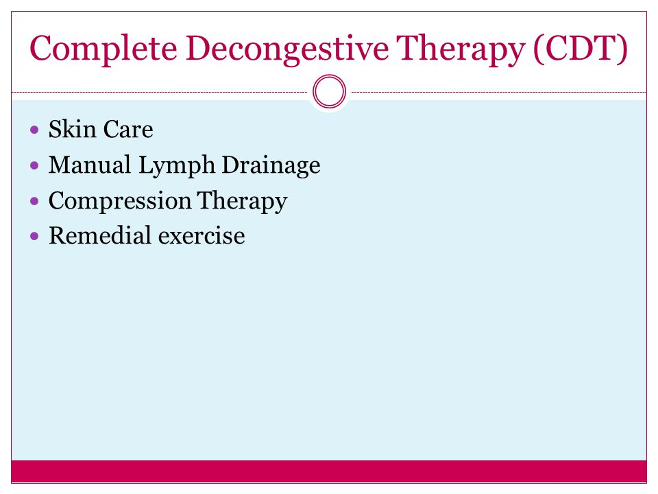 Complete Decongestive Therapy (CDT)