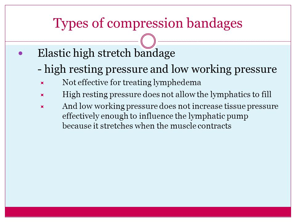 Types of compression bandages