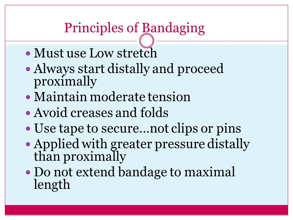 Principles of Bandaging