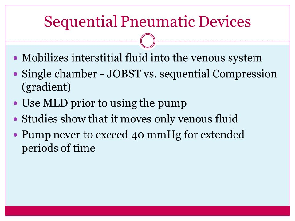 Sequential Pneumatic Devices