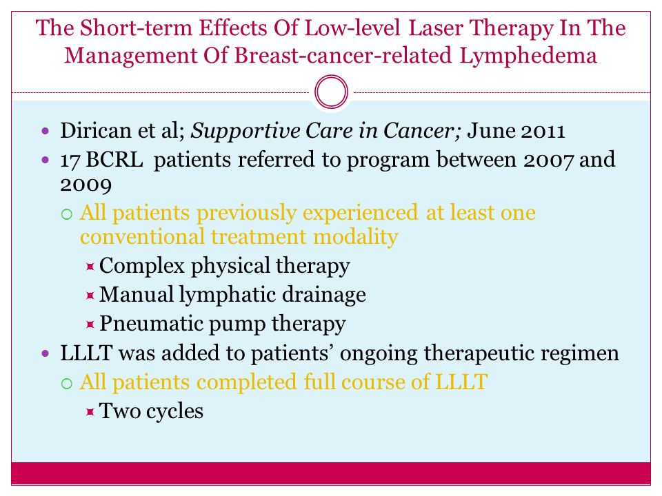 The Short-term Effects Of Low-level Laser Therapy In The Management Of Breast-cancer-related Lymphedema