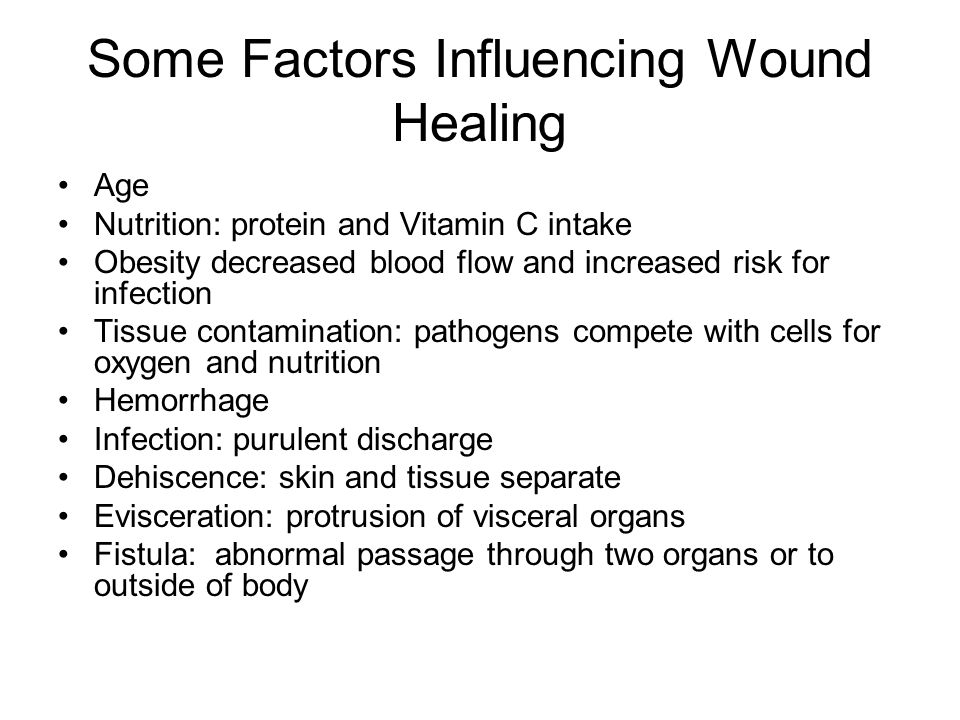 Some Factors Influencing Wound Healing
