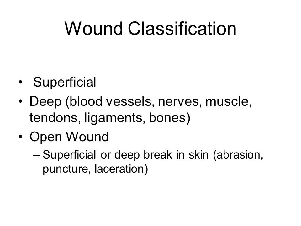 Wound Classification Superficial