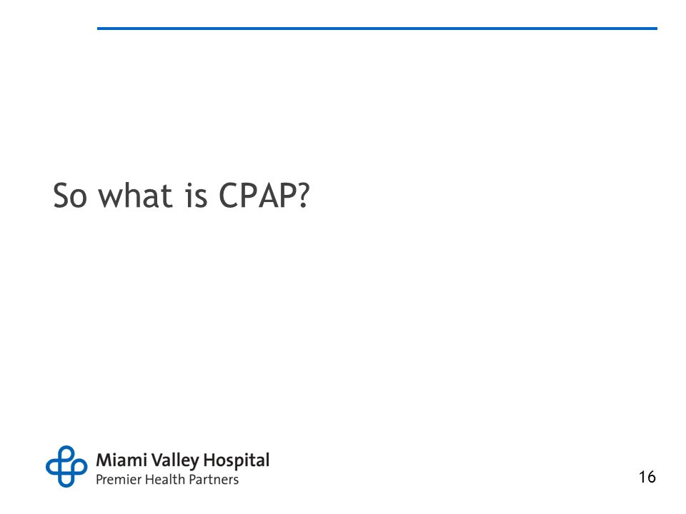 So what is CPAP