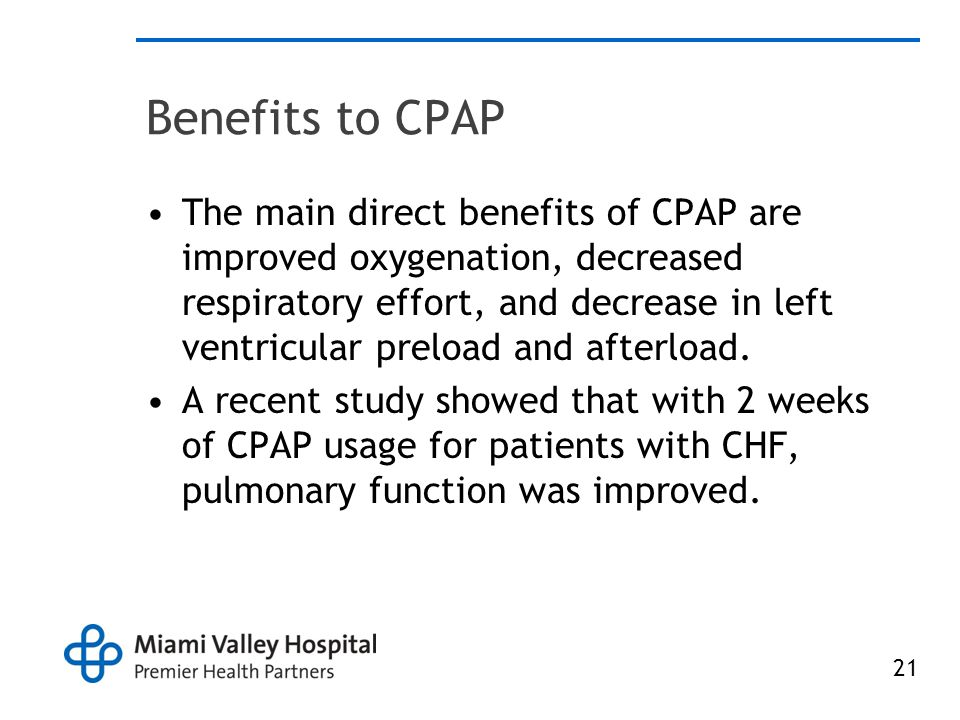 Benefits to CPAP