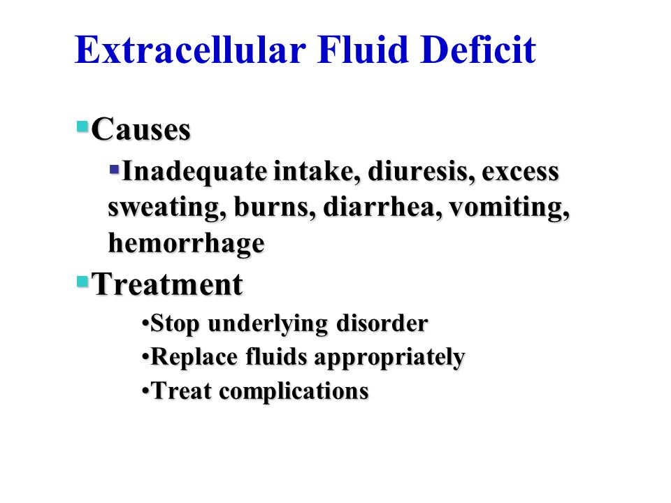 Extracellular Fluid Deficit
