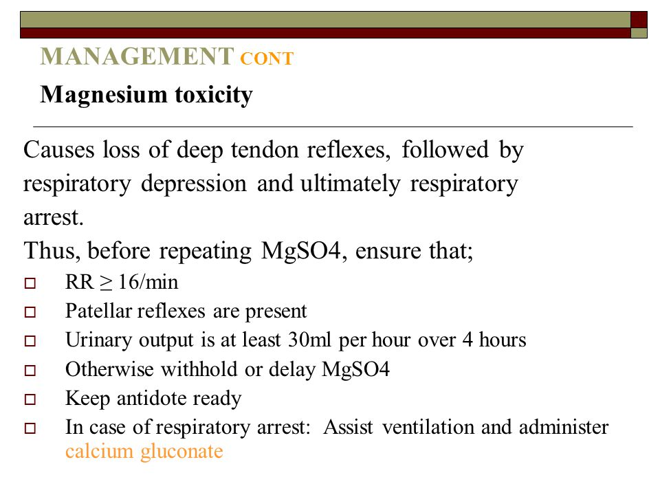Causes loss of deep tendon reflexes, followed by