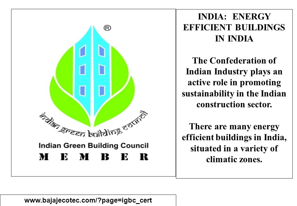 INDIA: ENERGY EFFICIENT BUILDINGS IN INDIA