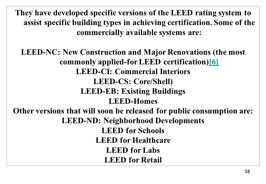 Zona terbangun ramah lingkungan ppt download for Leed for homes rating system
