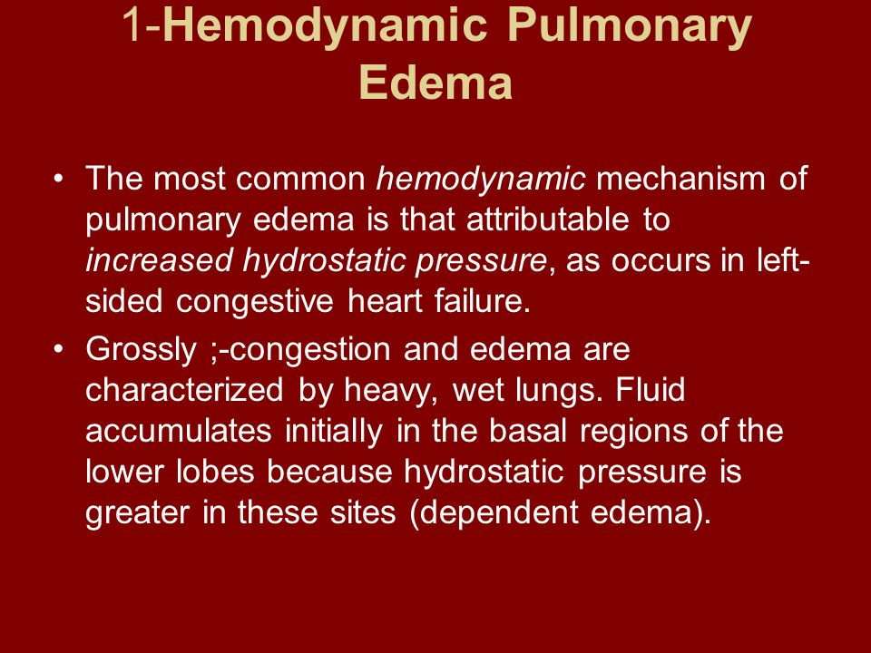 1-Hemodynamic Pulmonary Edema