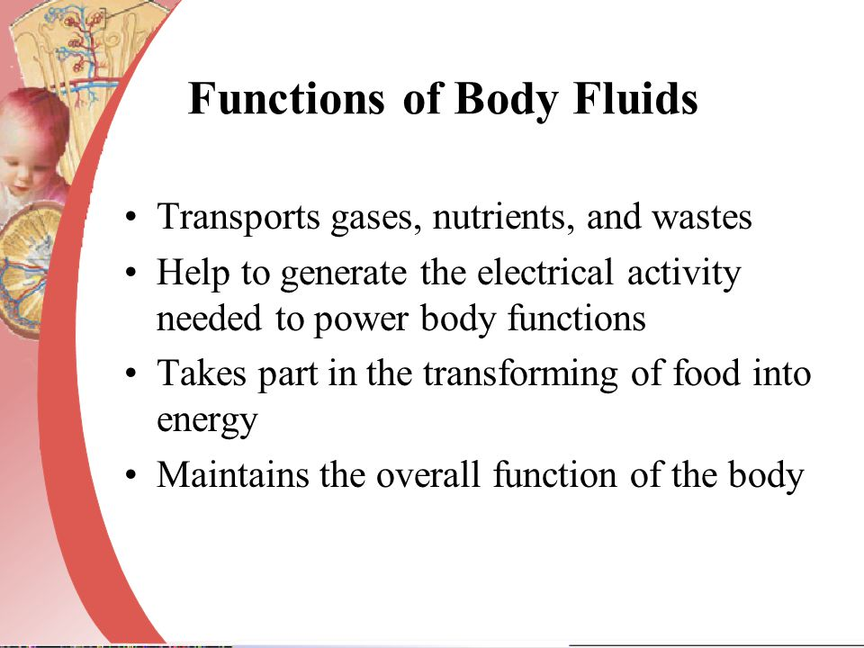Functions of Body Fluids