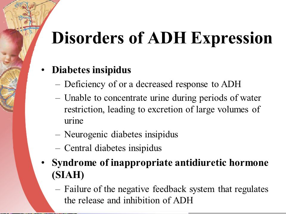 Disorders of ADH Expression