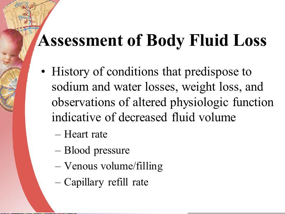 Assessment of Body Fluid Loss