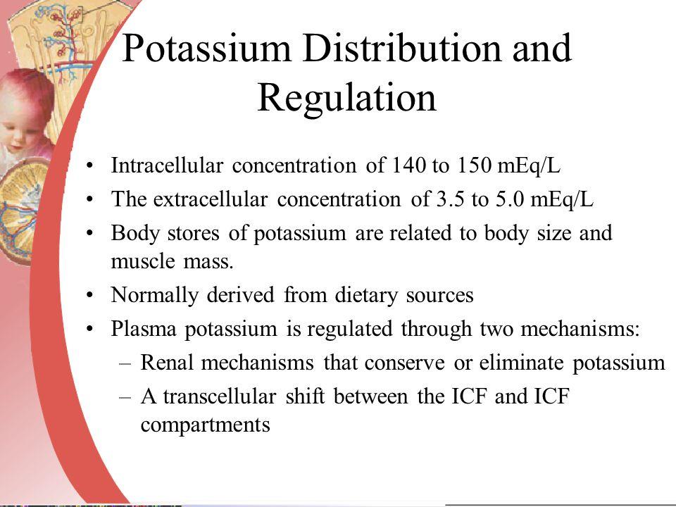 Potassium Distribution and Regulation