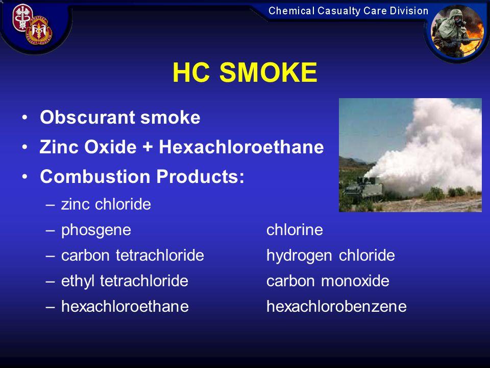 HC SMOKE Obscurant smoke Zinc Oxide + Hexachloroethane