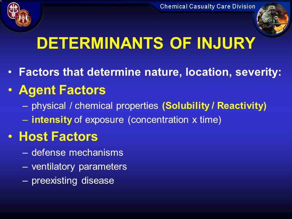 DETERMINANTS OF INJURY