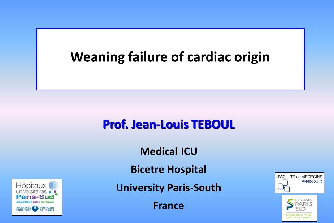 Weaning failure of cardiac origin