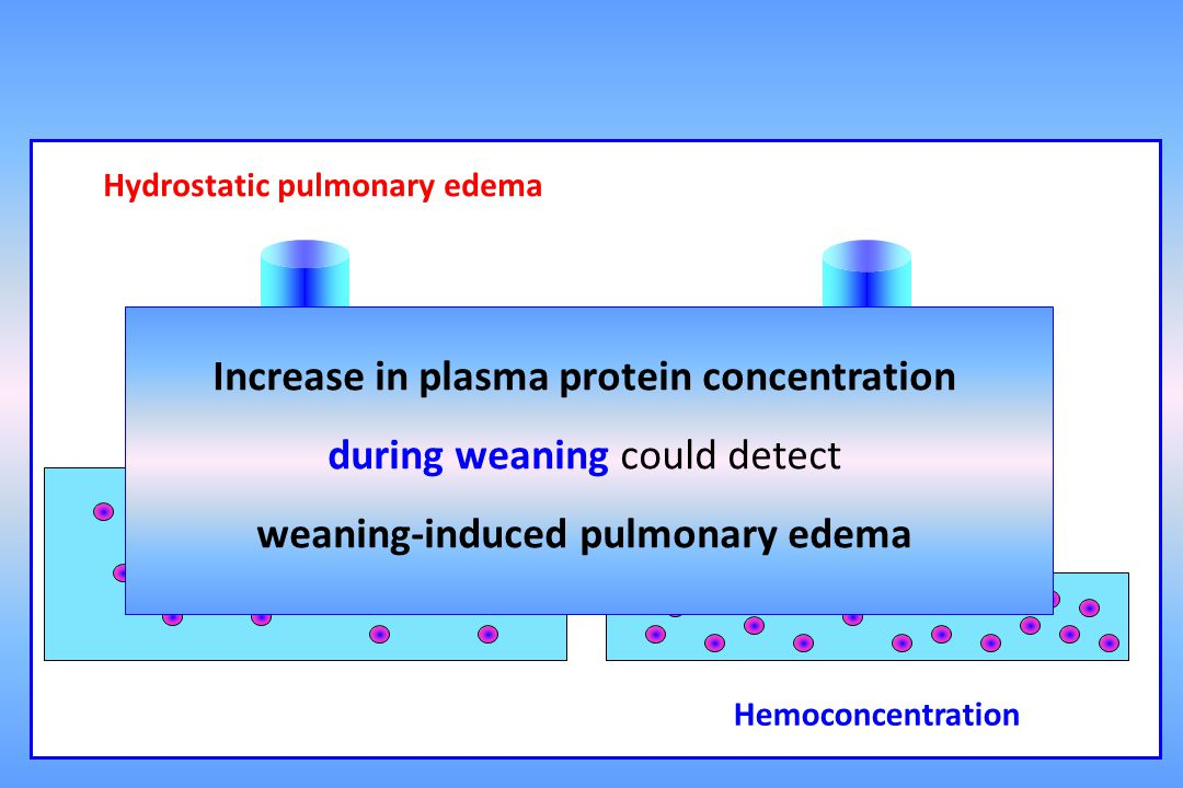 Increase in plasma protein concentration during weaning could detect