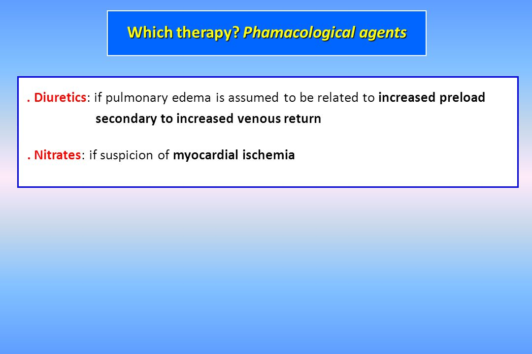 Which therapy Phamacological agents
