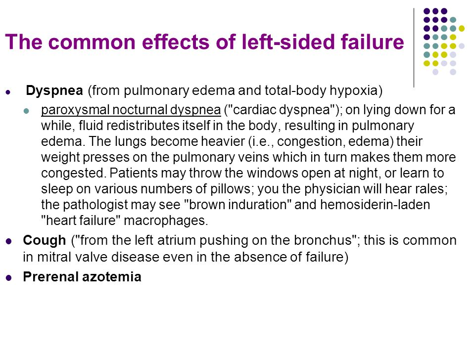 The common effects of left-sided failure
