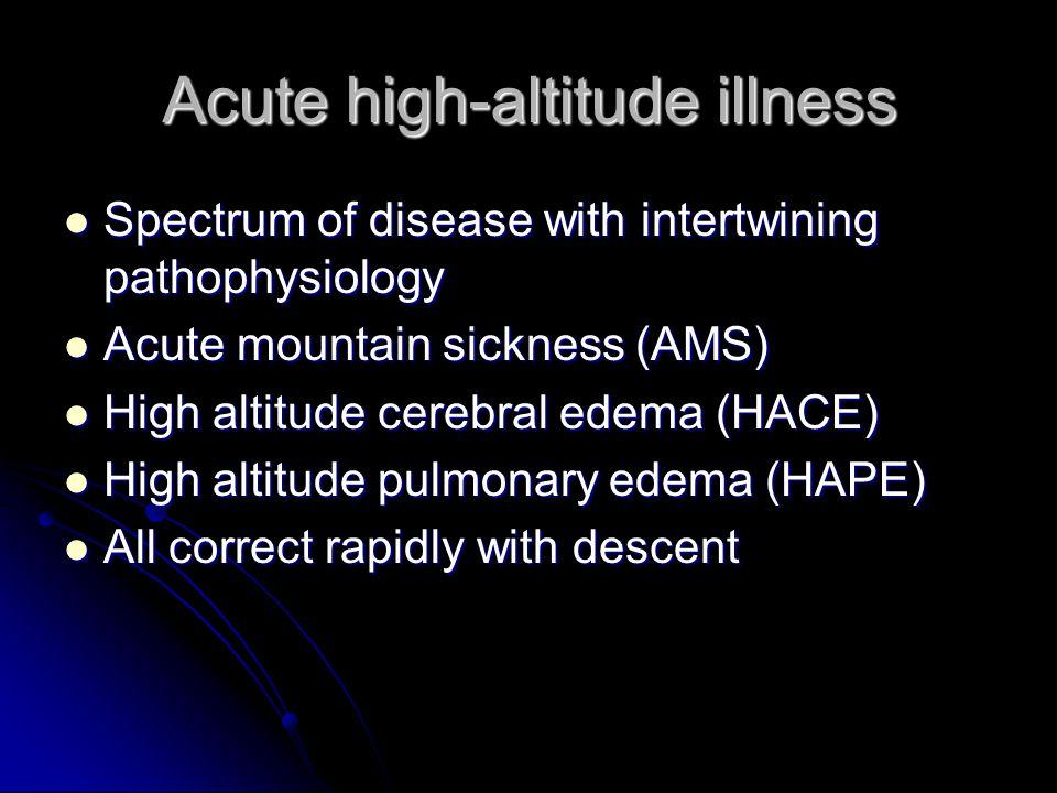 Acute high-altitude illness