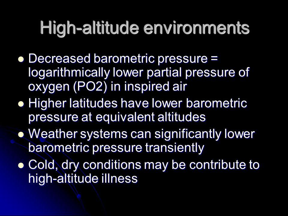 High-altitude environments