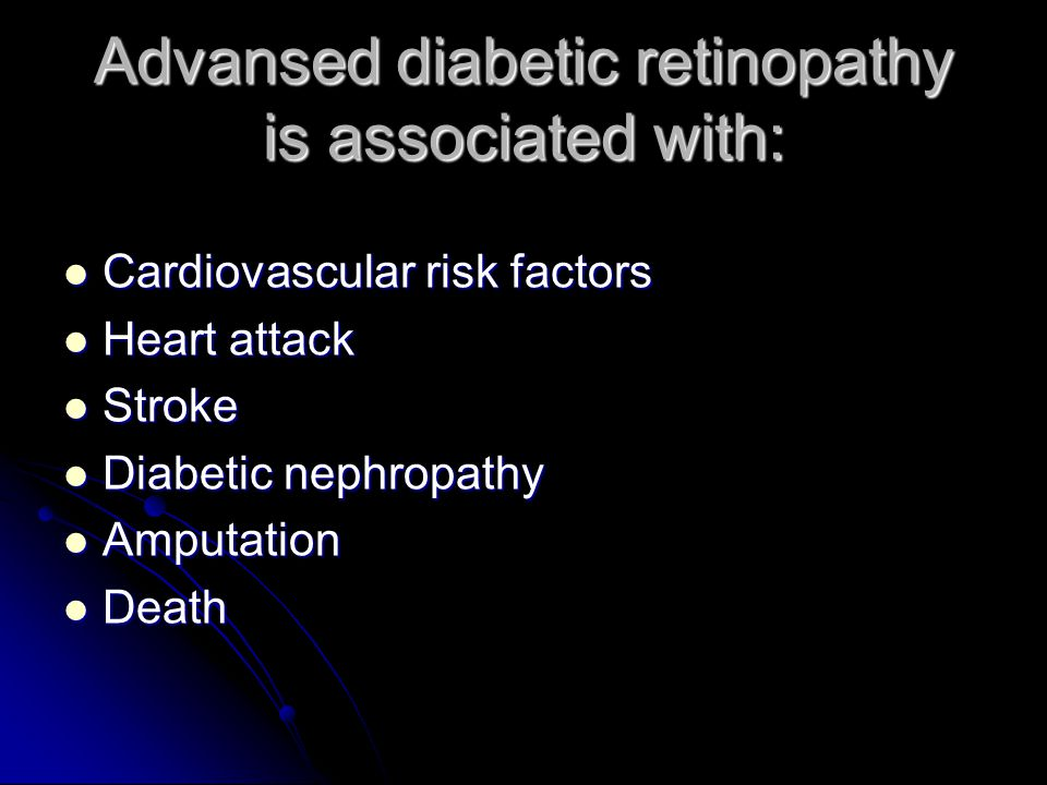 Advansed diabetic retinopathy is associated with: