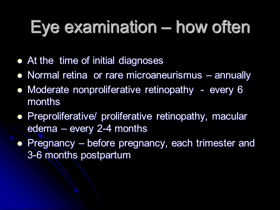 Eye examination – how often