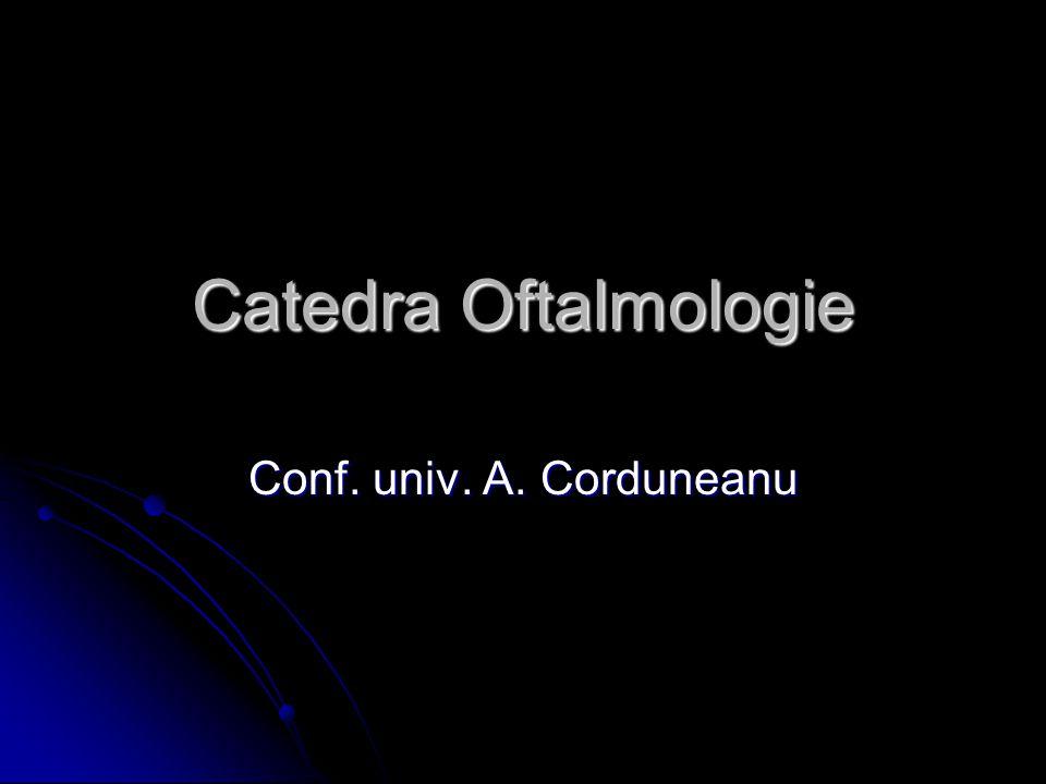 Catedra Oftalmologie Conf. univ. A. Corduneanu