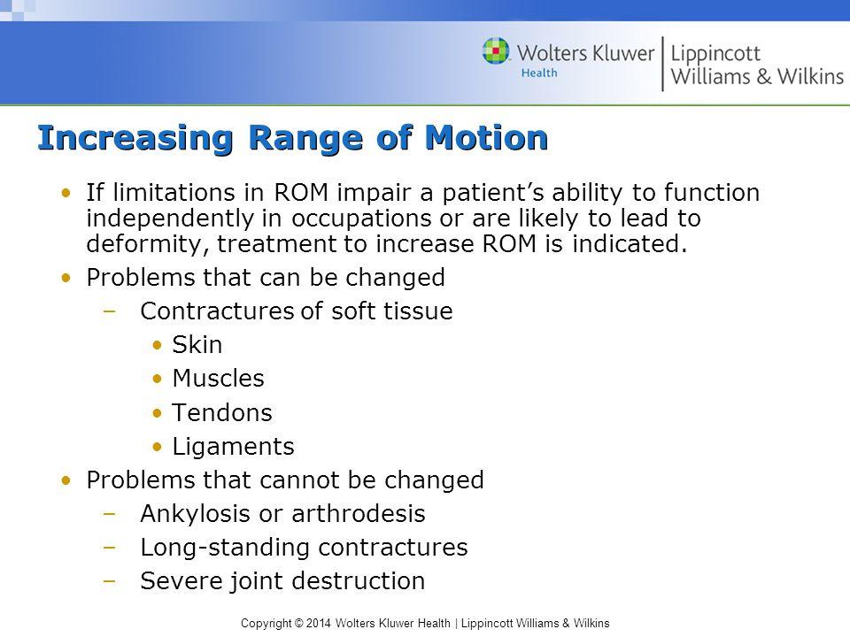 Increasing Range of Motion