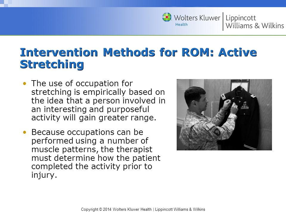 Intervention Methods for ROM: Active Stretching