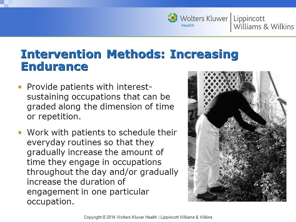 Intervention Methods: Increasing Endurance