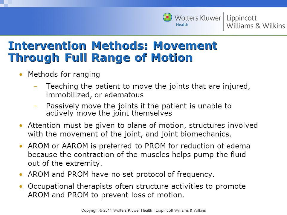 Intervention Methods: Movement Through Full Range of Motion