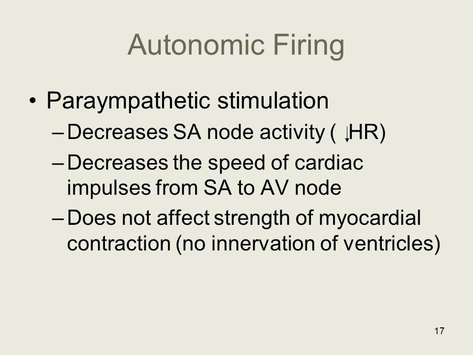 Autonomic Firing Paraympathetic stimulation