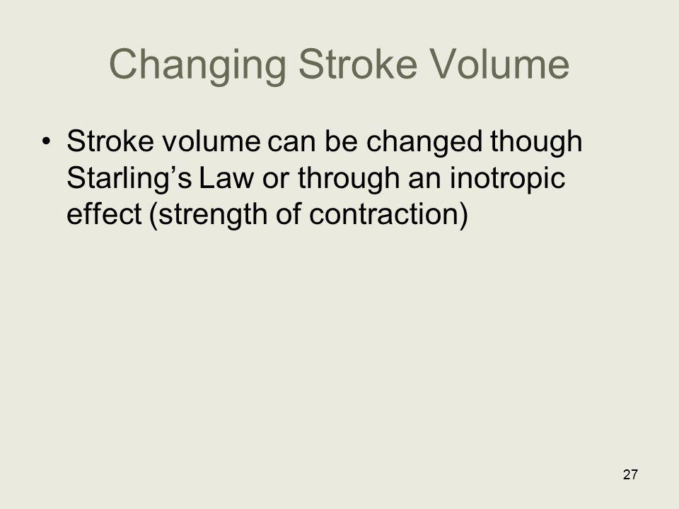 Changing Stroke Volume