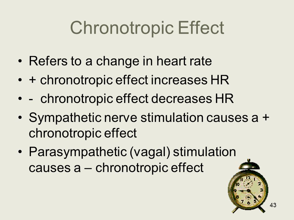 Chronotropic Effect Refers to a change in heart rate