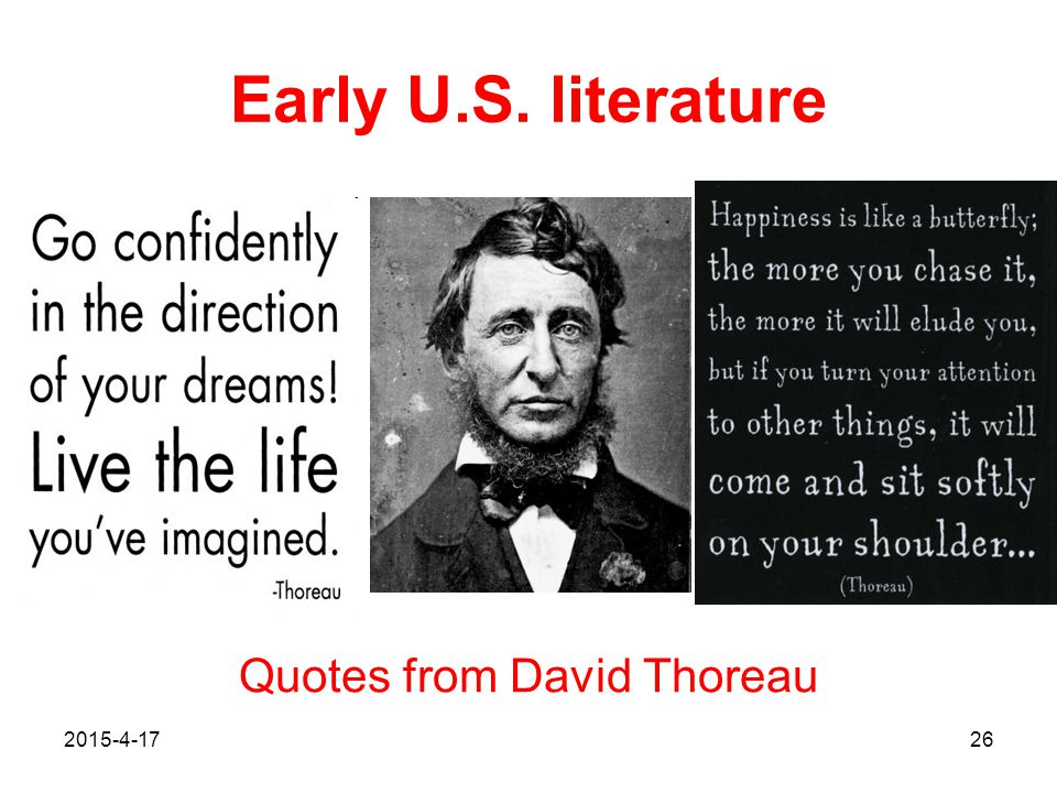 Quotes from David Thoreau